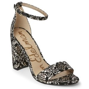 Sam Edelman Yaro black and gold brocade sandal